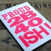 Printed letterpress with vintage wood type