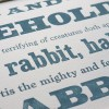 Letterpress Quote detail