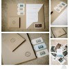 Letterpress kraft CD case, folder and tags